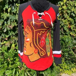 NWT CHICAGO BLACKHAWKS Knit Top, S